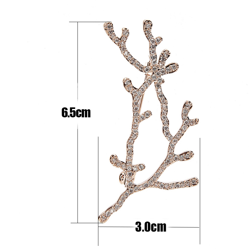 TDQUEEN Brooches Micro Pave Austrian Crystal Antlers Pins and Brooches for Women Silver Plated and Gold Color Metal Broche Gift (6)