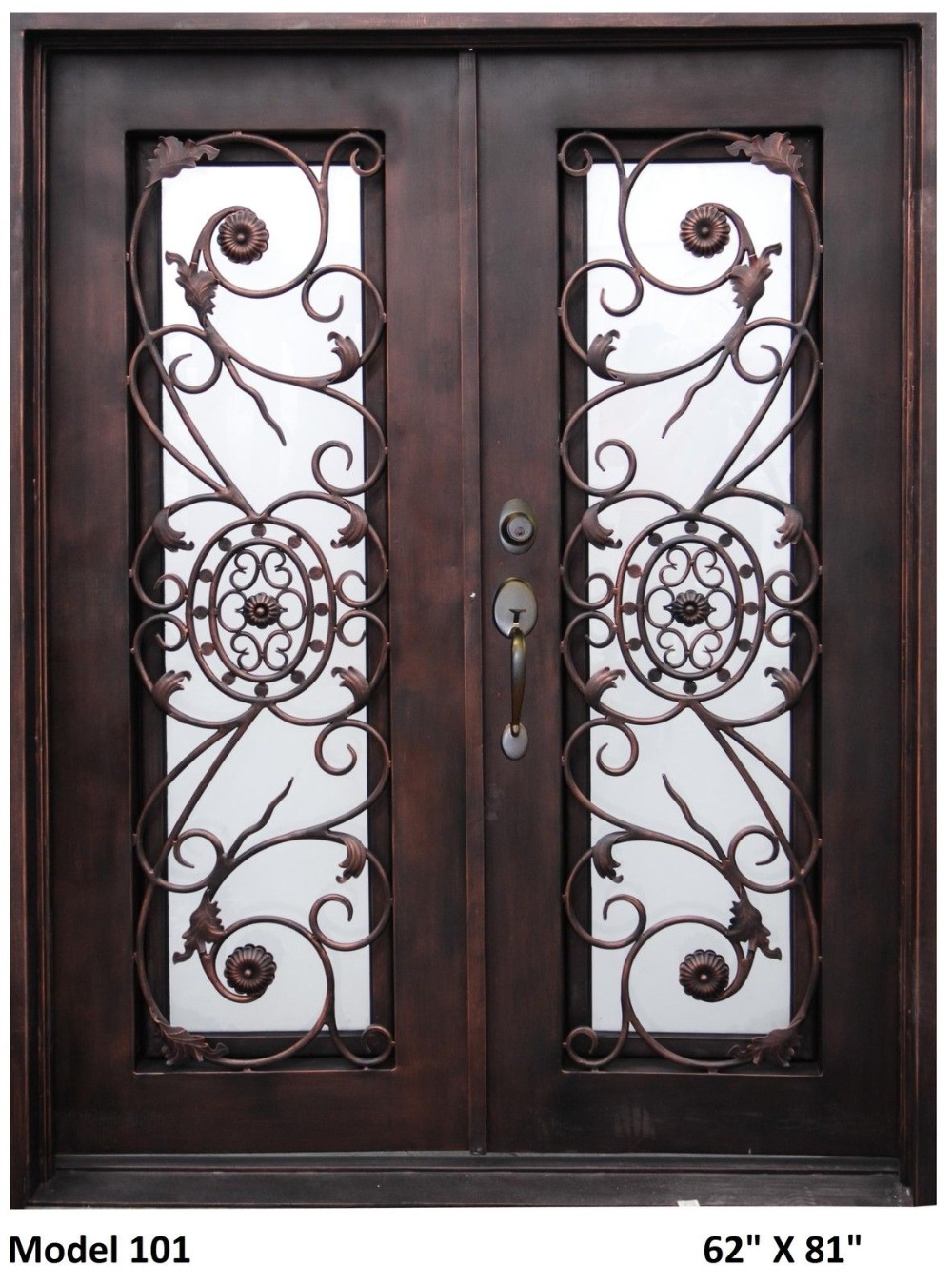 Custom Design 74 Quot X 98 Quot Wrought Iron Entry Double Doors