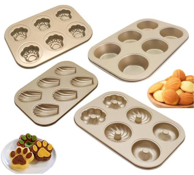 Diy Cartoon Muffin Pastry Mold Bakeware Shell Cat Claw