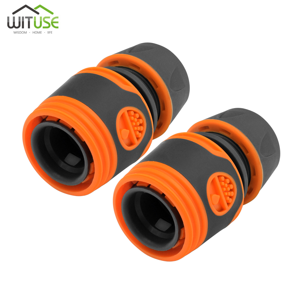 2pcs Quick Tap Water Connector Adapter Fast Coupling Adaptor Drip Tape Male Female Adapter Irrigation Hose Connector Garden Tool