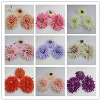 100 SZTUK Mini Daisy Kwiat Dekoracyjne Sztuczne Silk Rose Kwiaty 12 cm Wedding Party DIY Dekoracje Home Decor bez trzpienia