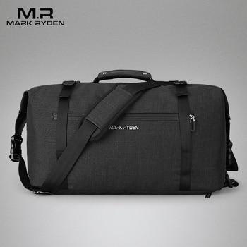 MARK Райден Новые путешествия багажные сумки высокое Ёмкость сумка водостойкой Для мужчин для поездки два Цвета доступны большие пространст...