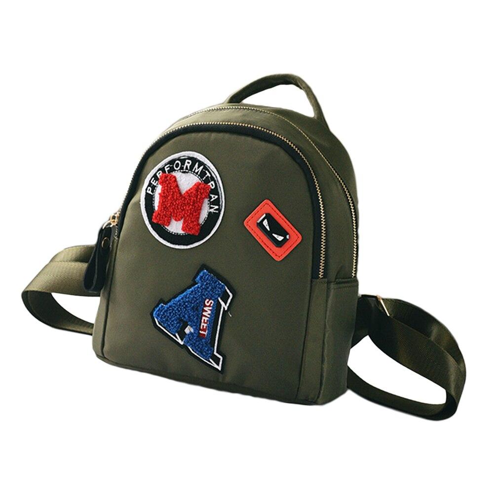ca31de99703c New Fashion Women Mini Backpack Teenagers Girls School Bag Female Cute  Applique Solid Small Backpack Casual Rucksack Bag Black