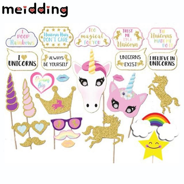 Meidding 30pcs unicorn photo booth props cute unicorns rainbow meidding 30pcs unicorn photo booth props cute unicorns rainbow paperboard baby shower decor girls christmas party solutioingenieria Images