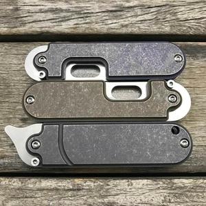 Image 5 - LDT فول سكين للفرد صغير S35VN شفرة حجر غسل التيتانيوم مقبض SR مفتاح سلسلة السكاكين بقاء سكين صيد أدوات EDC الجيب
