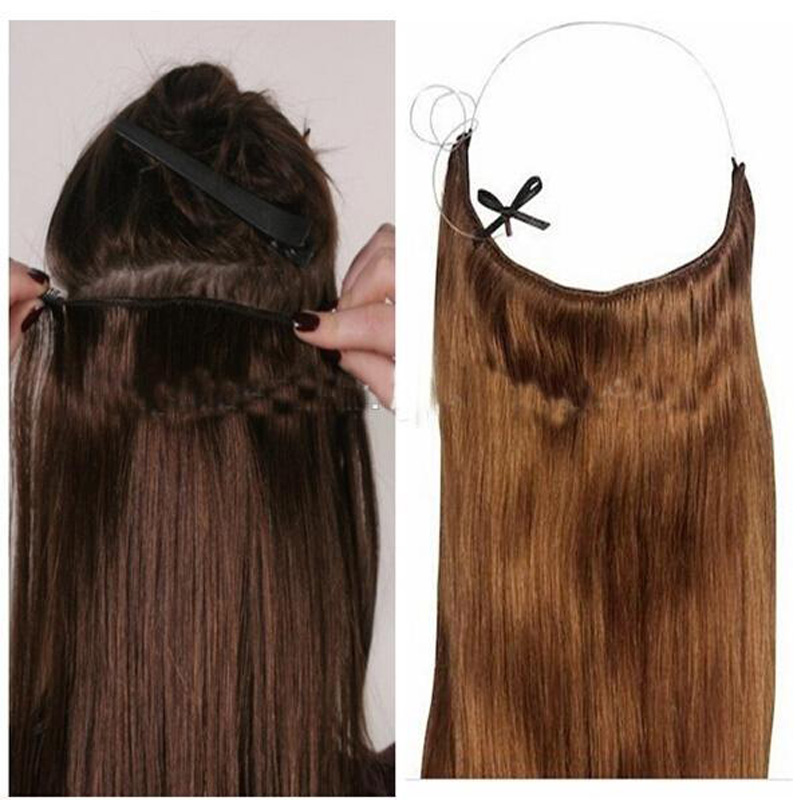 New Hot Invisible Crown Synthetic Hair Extensions Elastic In Flip In