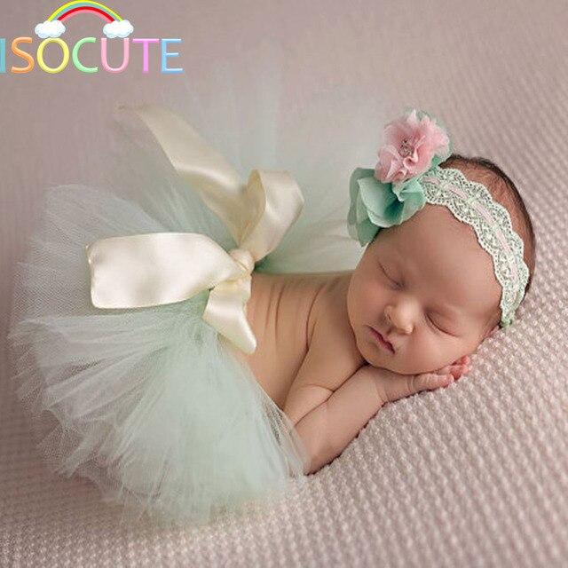 Adereços Fotografia de recém-nascidos Do Bebê Meninas Princesa Saia Tutu  Cabeça New Born Foto c6134c85f278