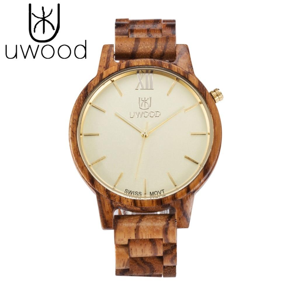 все цены на 2018 New Arrival Original Bamboo Zebra Wood Men's Wristwatch Casual Classic Folding Clasp Quarzt Movement Wrist Watch Luxury