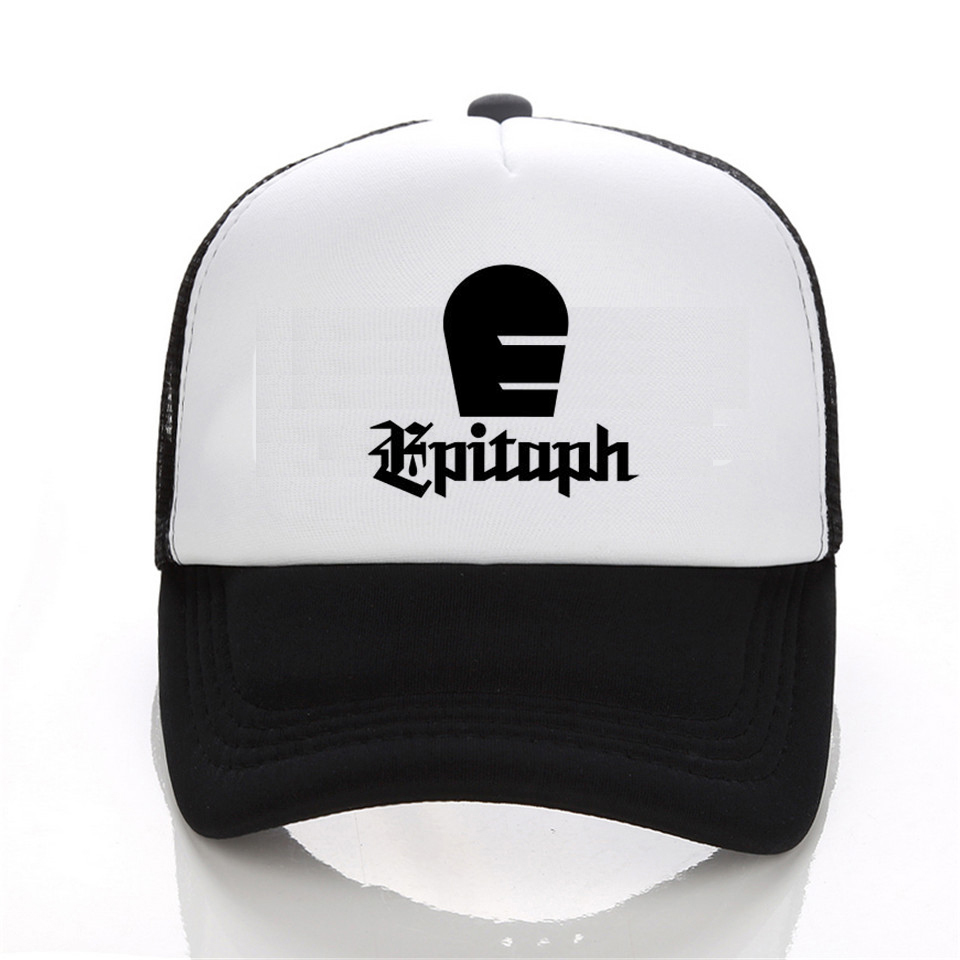 New Brand Cap Men Hip Hop Cap Casual  New EPITAPH RECORDS Rock Music Logo baseball Cap Black White Hat Snapback Women Cap