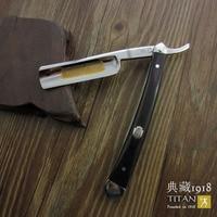 free shipping sharping razor TITAN wood handle man's razor stainless steel balde