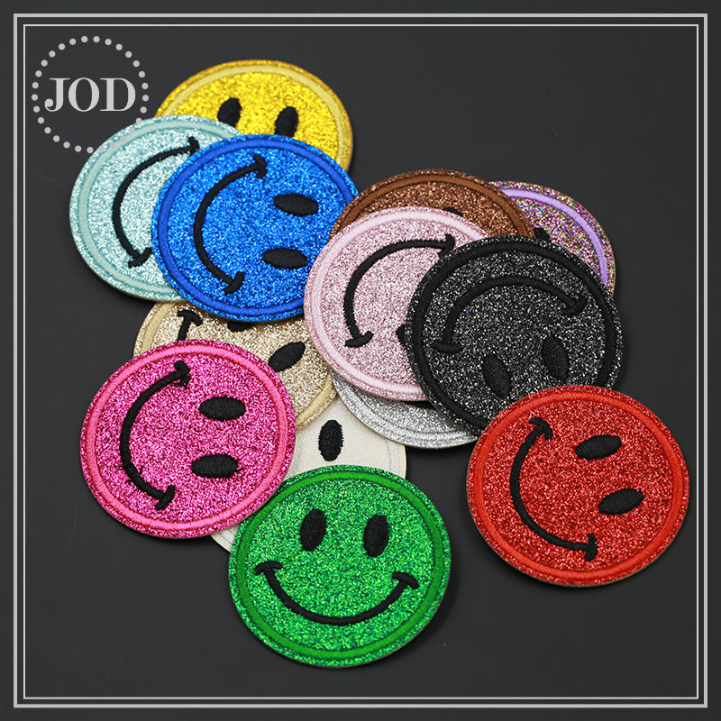 Gay Pride Rainbow Round Smiley face Smiler Iron on Patch Bags Jeans Clothes