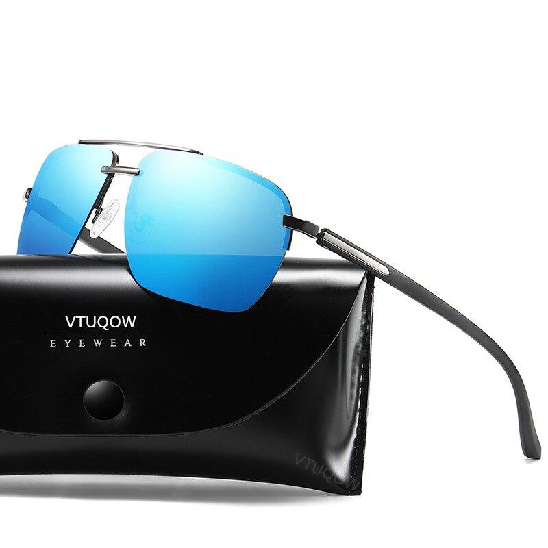 2019 Luxury Brand Rimless Pilot Polarized Sunglasses Retro Vintage Men's Sunglasses Male Sun Glasses okulary gafas de sol hombre
