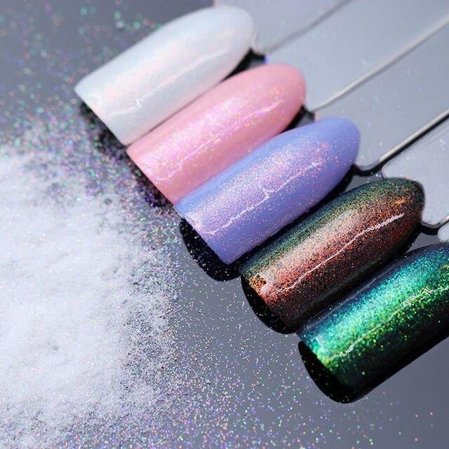 Born Pretty 1 5g Chameleon Mermaid Nail Powder Chrome Pigment Manicure Glitters Fairy Dust Art