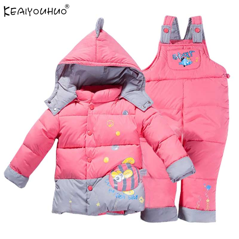 KEAIYOUHUO Brand Girls Clothes Sets Winter Coats Sport Suit Children Clothing Boys Warm Long Sleeve Hooded Jackets Kids Clothes keaiyouhuo 2017 autumn boys girls clothes sets batman sport suit children clothing girls sets costume for kids baby boy clothes