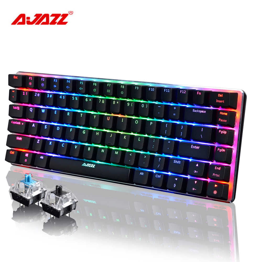 AJAZZ AK33 линейная экшн-клавиатура с подсветкой светодиодный цветной клавиатуры 82 клавиши USB Проводная анти-ореоль для ПК компьютера LOL