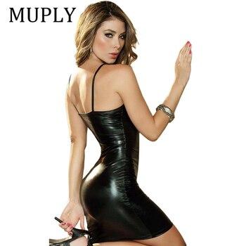 Porno Lingerie Sexy Women Babydoll Underwear Leather Erotic Porno Lingerie Sex Costumes Erotic Dress Sex Clothes Dance Clubwear цена 2017