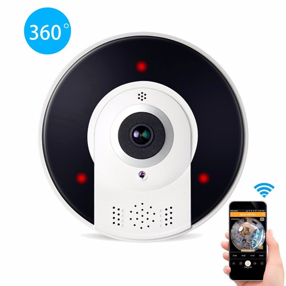 Kruiqi Home Security 1.3MP IP Kamera Wireless WiFi Panoamic IP Kamera Überwachung 960 p Nachtsicht CCTV Baby Monitor 1280*960