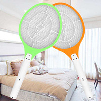 Rechargeable Electric Bug Fly Mosquito Insect Swatter Racket Zapper Killer With Isolation Mesh EU Plug