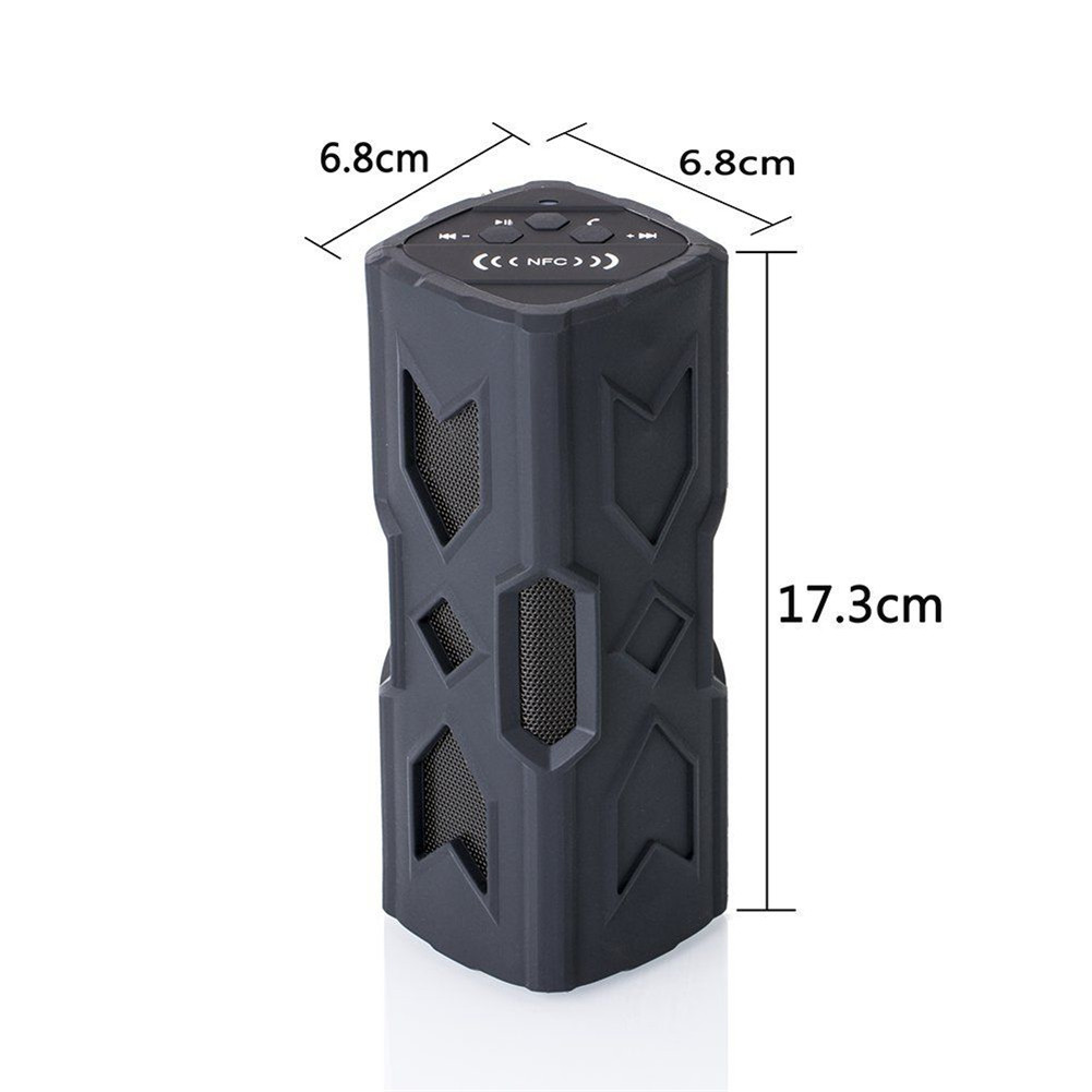 Outdoor Waterproof Bluetooth Speaker CSR-4.0 With NFC Function Emergency Charging Port Portable Audio And Video Equipment 1