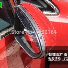 Авто зеркало заднего вида дождь щит дефлектор для Volkswagen Golf 7, ABS, 2 шт./лот, стайлинга автомобилей