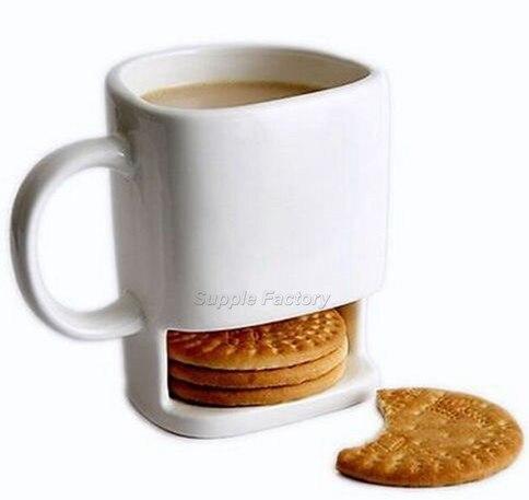 60pcs lot 250ML Ceramic Mug White Coffee Tea Biscuits Milk Dessert Cup Tea Cup Side Cookie