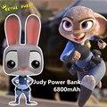 Judy coelho dos desenhos animados de alta qualidade 5800 mah power bank carregador portátil de backup externo carregador de bateria móvel para iphone android