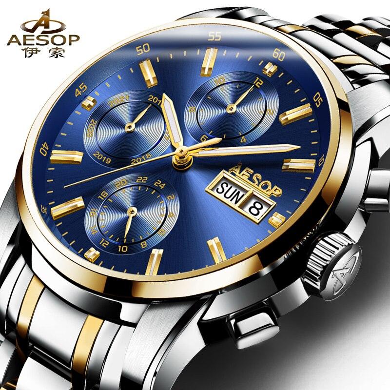Relogio Masculino Aesop Relojes Fecha Automática Relojes Mecánicos - Relojes para hombres