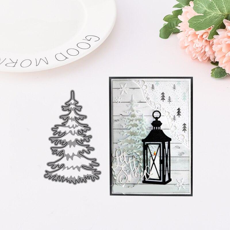 Elegant Christmas Tree Metal Cutting Dies for Scrapbooking DIY Album Embossing Folder Paper Card Maker Template Decor Stencils in Cutting Dies from Home Garden