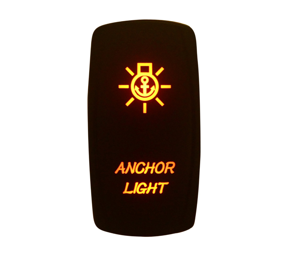Морской Класс Водонепроницаемый IP66 якорь свет кулисный переключатель Янтарный светодио ...