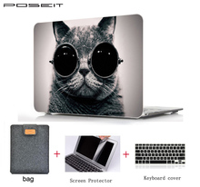 Oil Printing Drawing Hard Case For Macbook Air 11 Pro Touch bar 13 15 Retina 12 laptop Matte shell Protective Bag+ keyboard