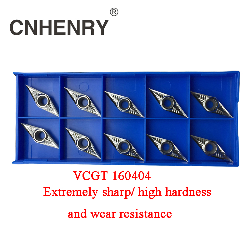 NEW  10Pcs 100/% New  VCGT160404-AK H01 CNC Aluminum Alloy carbide turning insert