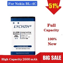 Phone Battery BL-4C For Nokia 6100 6300 6260 6125 6136S 6170 6301 7705 7200 7270 8208 BL4C Lithium Replacement Batteries