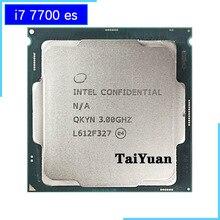 Processador intel, intel core i7 7700 es i7 7700 es i7 7700es qkyn 3.0 ghz quad core oito rosca processador cpu 8m 65w lga 1151