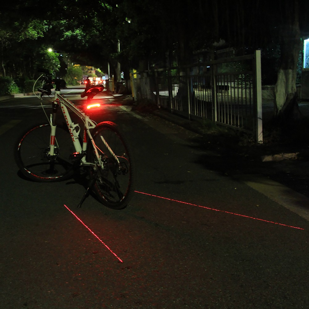 Fahrradrücklicht Bicycle Tail Light Smart Wireless Remote Control Turn Signal Fahrradzubehör Beleuchtung & Reflektoren