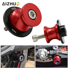 For Ducati 749S 749 S Motorcycle Swingarm Slider Spool 8mm With  CNC Aluminum 8 Color Motorbike Accessory Stand Screws