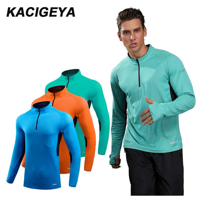 Sport Coat Man Long Sleeve Running Shirts Outdoor Training Sweat Tee Gym Sportswear Soccer Jersey Thin Autumn Top Riding Men