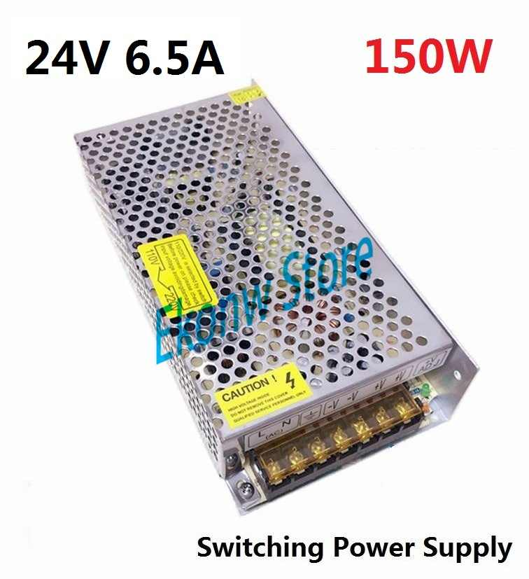 150W 24V 6A Switching Power Supply Factory Outlet SMPS Driver AC110-220V to DC24V Transformer for LED Strip Light Module Display