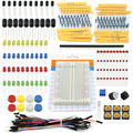 1 conjunto Portátil Handy Kit Resistor Capacitor LEVOU Fios Jumper Placa De Ensaio para Arduino Starter Kit