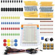 1 компл. Портативный Комплект Резистора LED Handy Конденсатор Перемычек Макет для Arduino Starter Kit