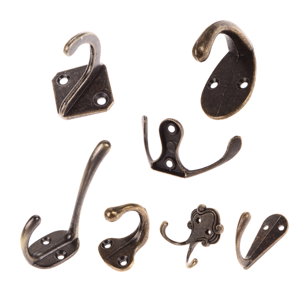 1pcs Vintage Wall Hook Antique Coat Hooks Zinc Alloy Door Wall Hangers for Hat Bag Bathroom Towel Hanger Drill Hook цена