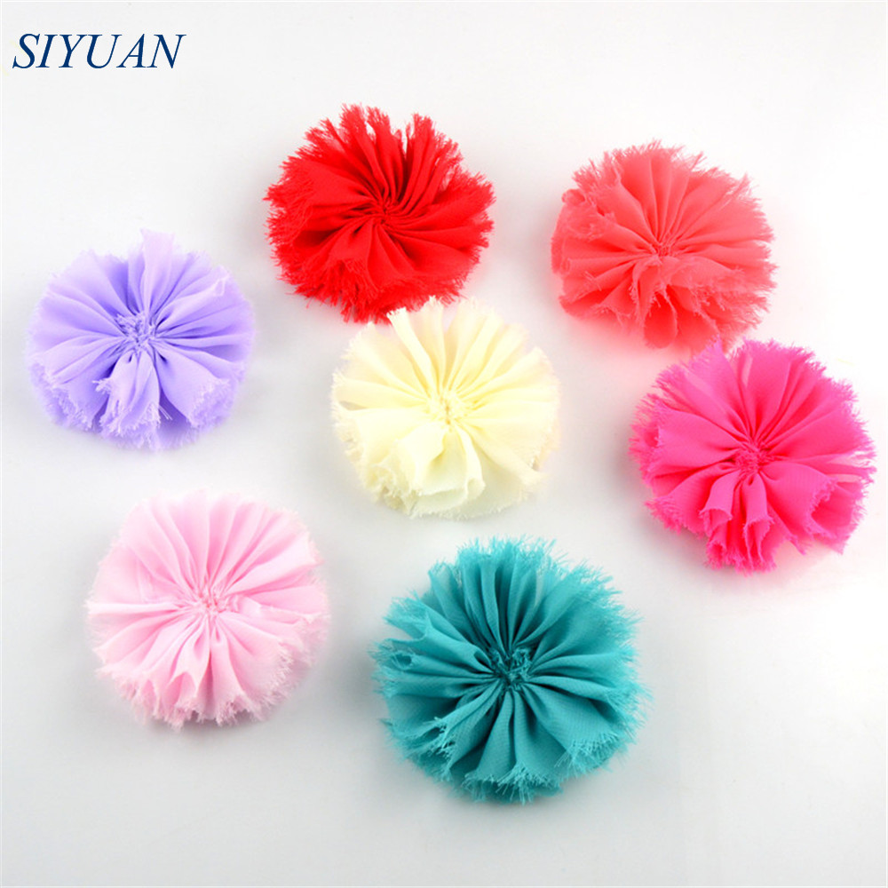 """120pcs/lot 20 Color U Pick 3.15"""" Vintage Shabby Frayed Chiffon Ballerina Flowers Unfinished DIY Headband Boutique Supply TH217-in Hair Accessories from Mother & Kids on AliExpress - 11.11_Double 11_Singles' Day 1"""