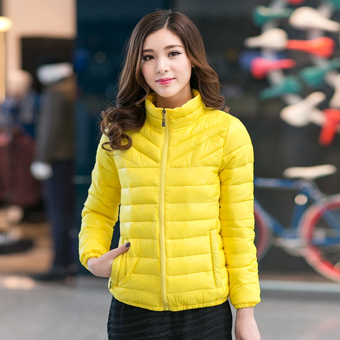 New Nice Winter Women Down Cotton Jacket&Coat Plus Size Wadded Jackets Female Slim Thin Outerwear Short   Parkas   WLF151