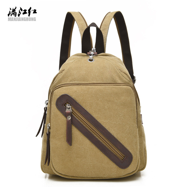 New Fresh Multi-functional Girls Shoulder Bag Summer Backpack Out Travel Bag Black Coffee Khaki 3 Colors Woman Bag Sac 1326