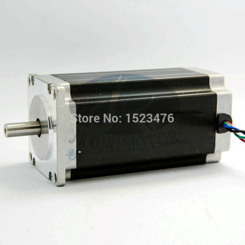 10w 3A  12v 57mm NEMA23  2 phase square hybrid big stepper motor 57HS112-3004 with  8mm Circular Shaft  Free shipping free shipping genuine leadshine 110hs28 phase nema 42 hybrid stepper motor with 28 n m 6 5 a length 201 mm shaft 19 mm