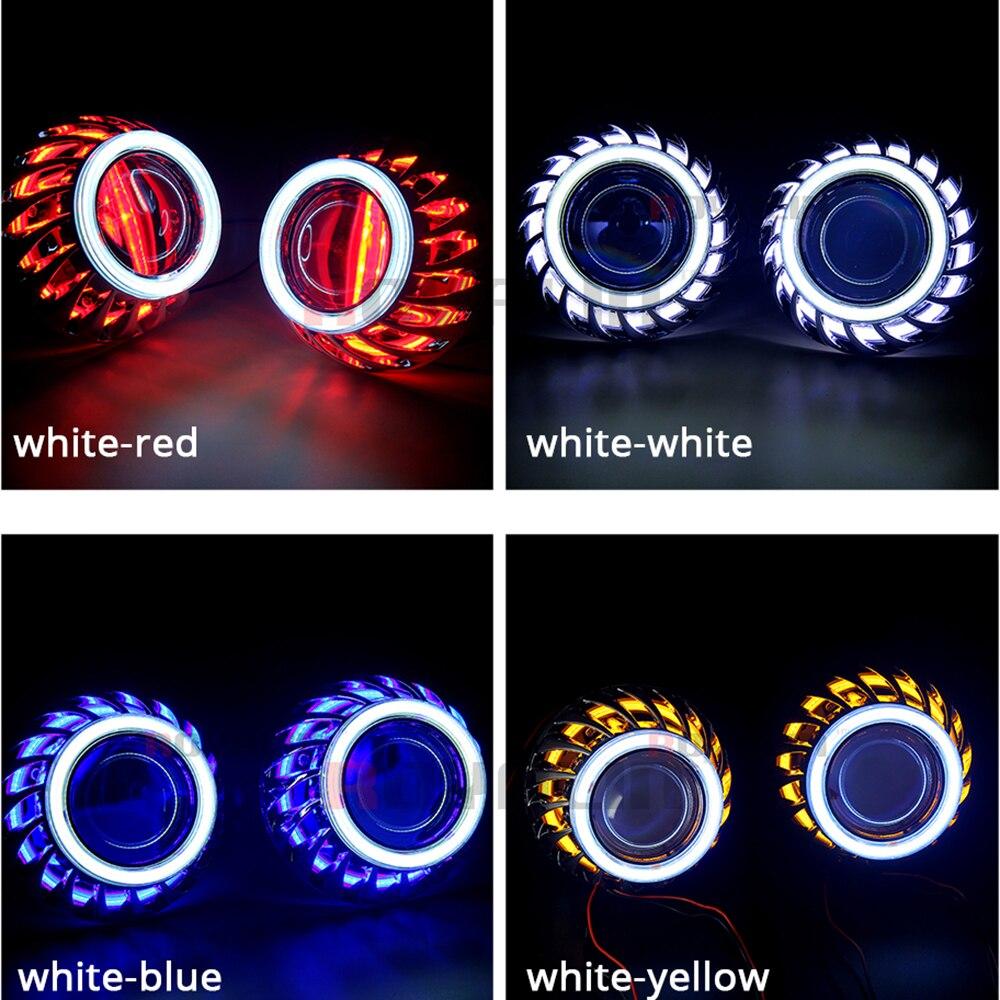 ROYALIN DRL Cüt mələk gözləri LED COB Halo Üzüklər Mini - Avtomobil işıqları - Fotoqrafiya 2