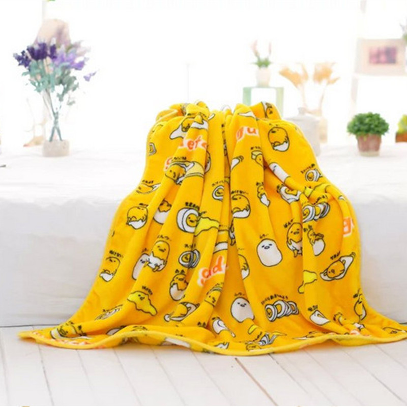Apprehensive Cartoon Gudetama Lazy Egg Soft Pillowcase Plush Toys Blanket Birthday Christmas Gift #1014 Promote The Production Of Body Fluid And Saliva