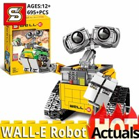In stock SY 7001 movie series WALL E Robot compatible lepining legoING Ideas 21303 set building blocks Bricks toys birthday gift