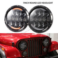 4 Pairs 75W High Power Led Dual Sealed Hi Low Beam Led Headlight In Round 7