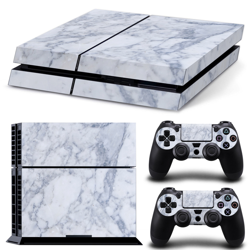 The granite Texture Cover Skin Sticker for Sony Playstation 4 for PS4 Console & 2 PCS Controller Vinyl Cover Decals
