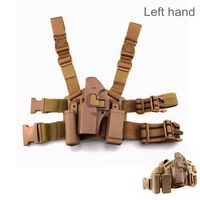 Glock 17 Tactical Com Gun Holster Military Airsoft Leg Holster Shooting Hunting Accessories Left Handed Pistol Thigh Holster